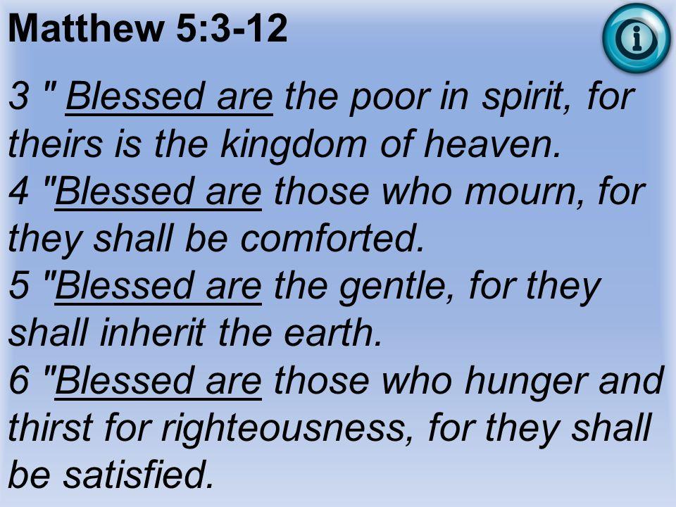 Matthew 5:3-12 3