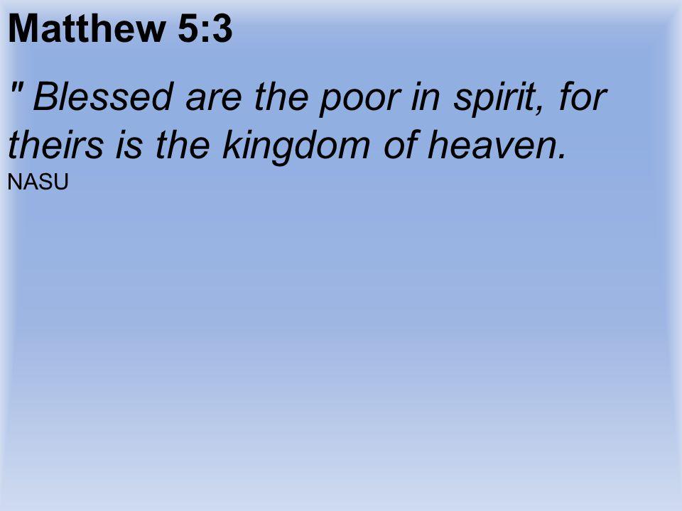 Matthew 5:3