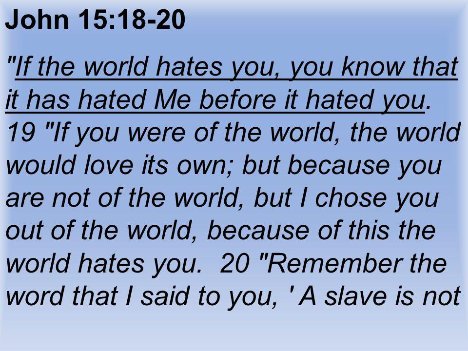John 15:18-20