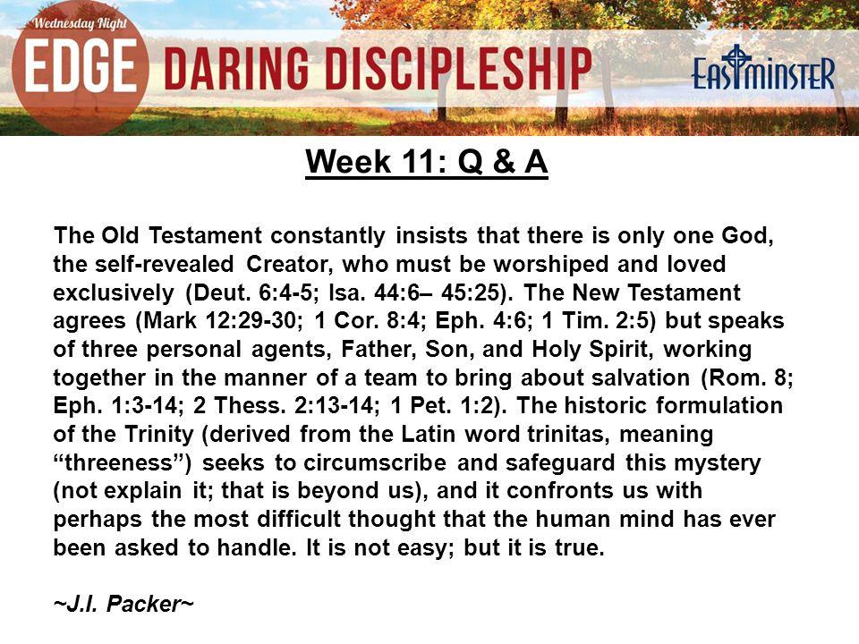 Week 11: Q & A 5.Was Adam the first human.