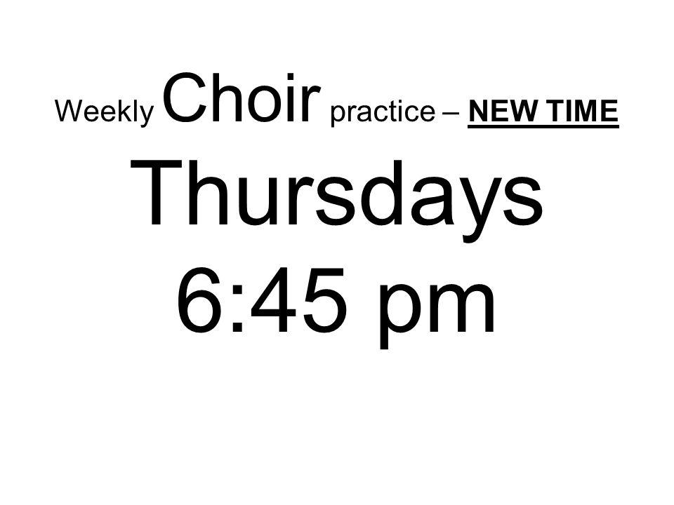 Thursdays 6:45 pm
