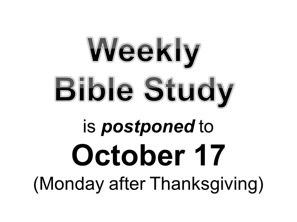 October 17 (Monday after Thanksgiving)