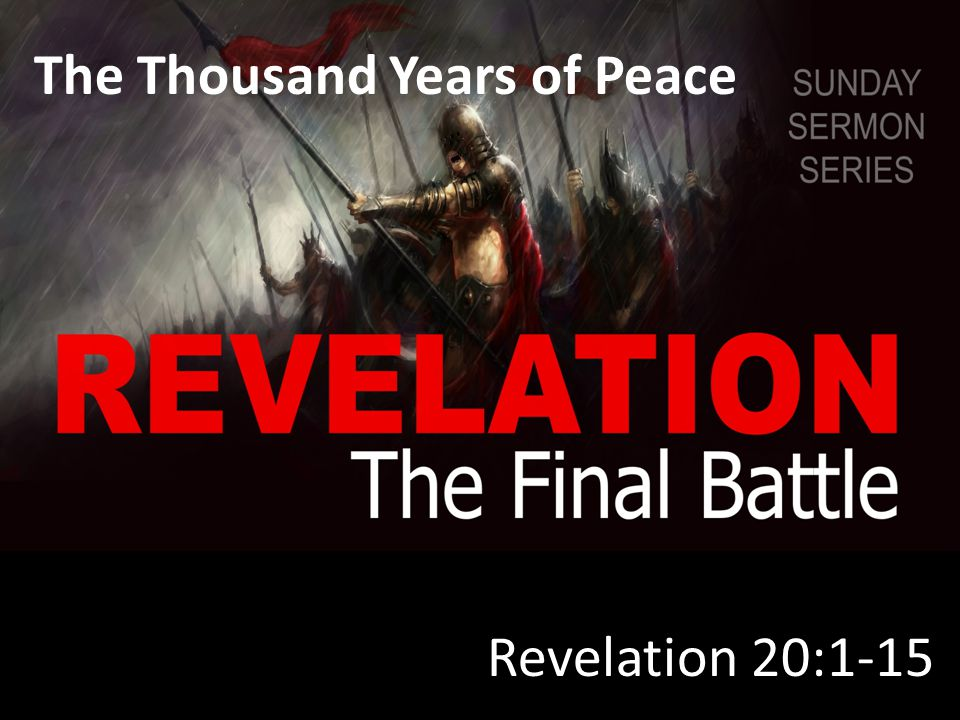 Revelation 20:4-6 They came to life and reigned with Christ for a thousand years.