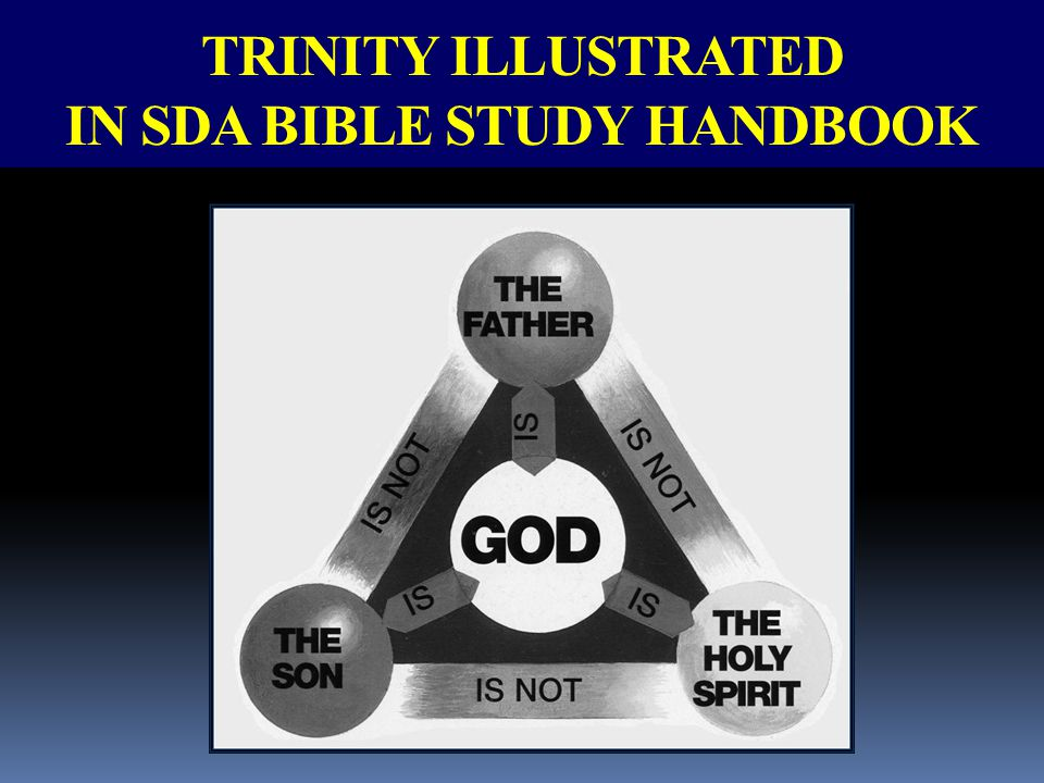 TRINITY ILLUSTRATED IN SDA BIBLE STUDY HANDBOOK