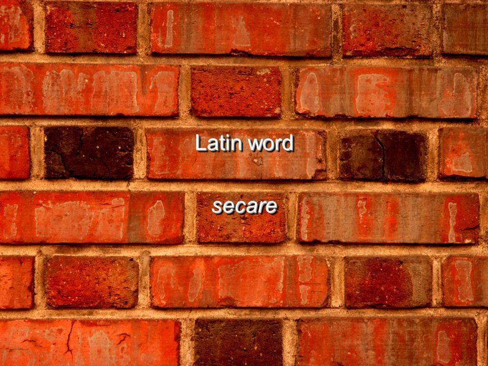 Latin word secare secare