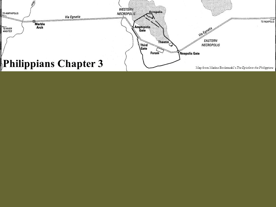 Philippians Chapter 3 Map from Markus Bockmuehl's The Epistle to the Philippians