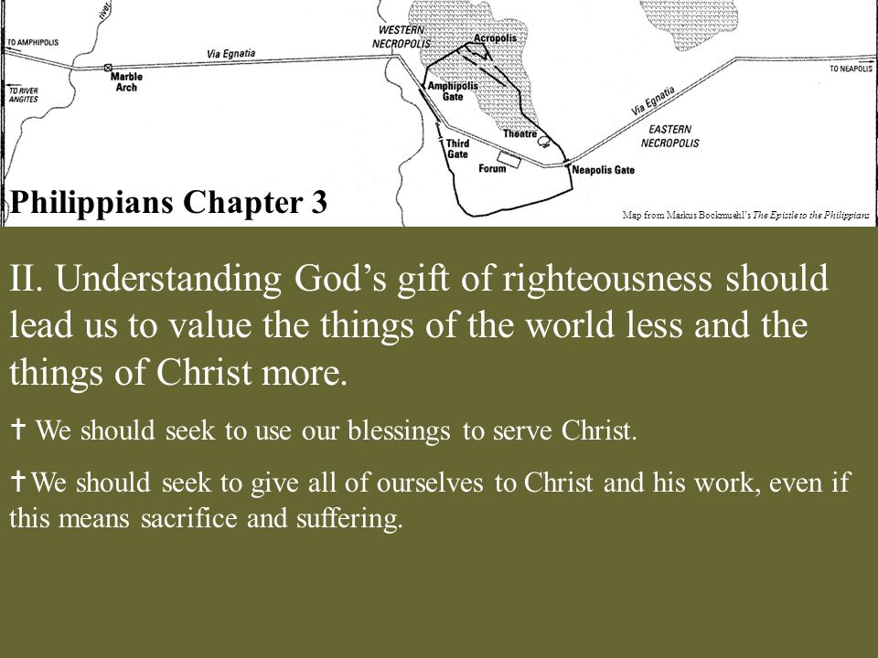 Philippians Chapter 3 Map from Markus Bockmuehl's The Epistle to the Philippians II.