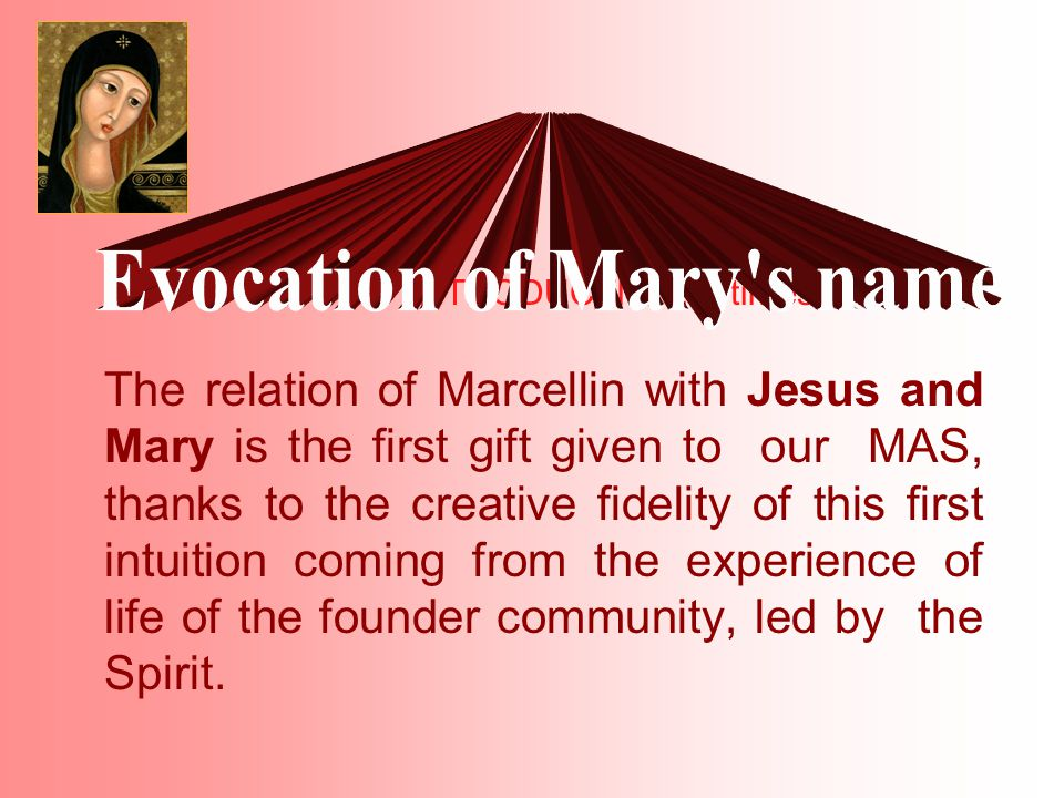 In 2001, the 20th General Chapter of the Marist Brothers required that a reflexion on our spirituality be encouraged.