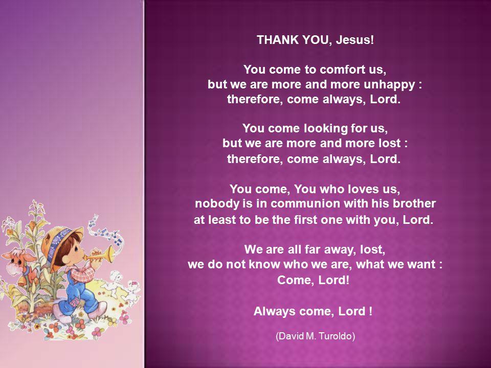 THANK YOU, Jesus.