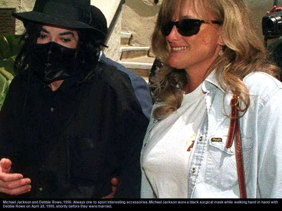Michael Jackson and Debbie Rowe, 1996. After his divorce from Lisa Marie Presley, Jackson married Debbie Rowe and they had two children together. Mich