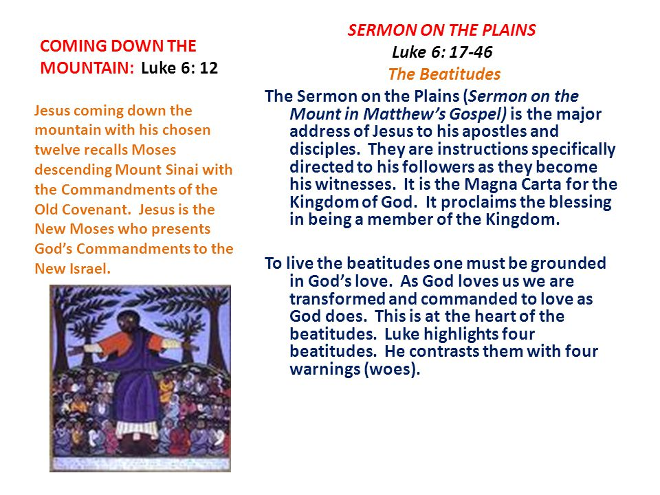 DAY 2: (Read Lk 6: 17-26) 1.How can the poor, the hungry and those who weep be considered blessed.