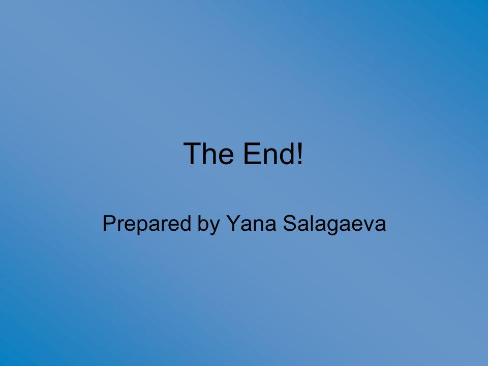 The End! Prepared by Yana Salagaeva