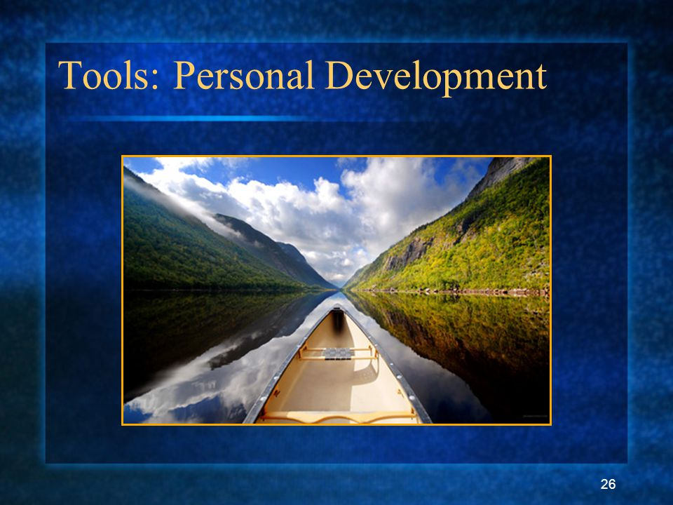 26 Tools: Personal Development