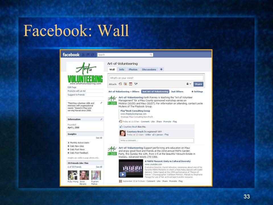 33 Facebook: Wall