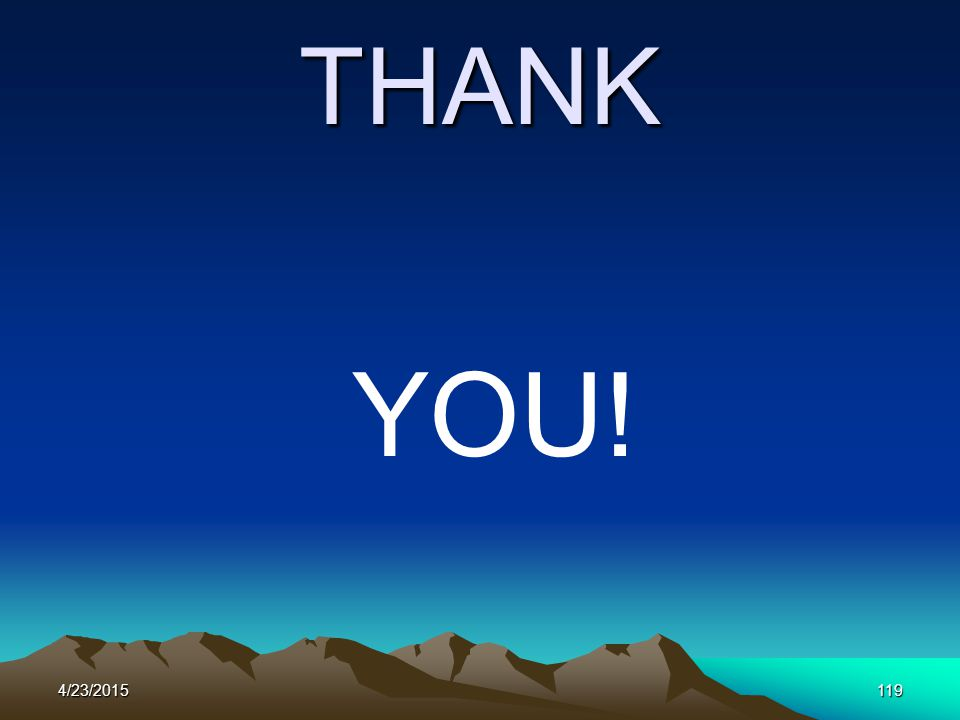 4/23/2015119 THANK YOU!