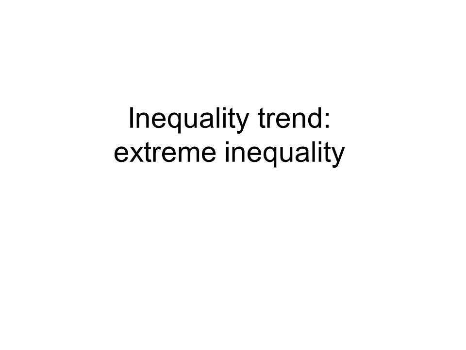Inequality trend: extreme inequality