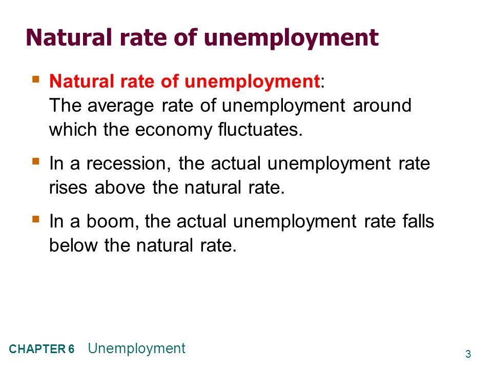 24 CHAPTER 6 Unemployment 1.