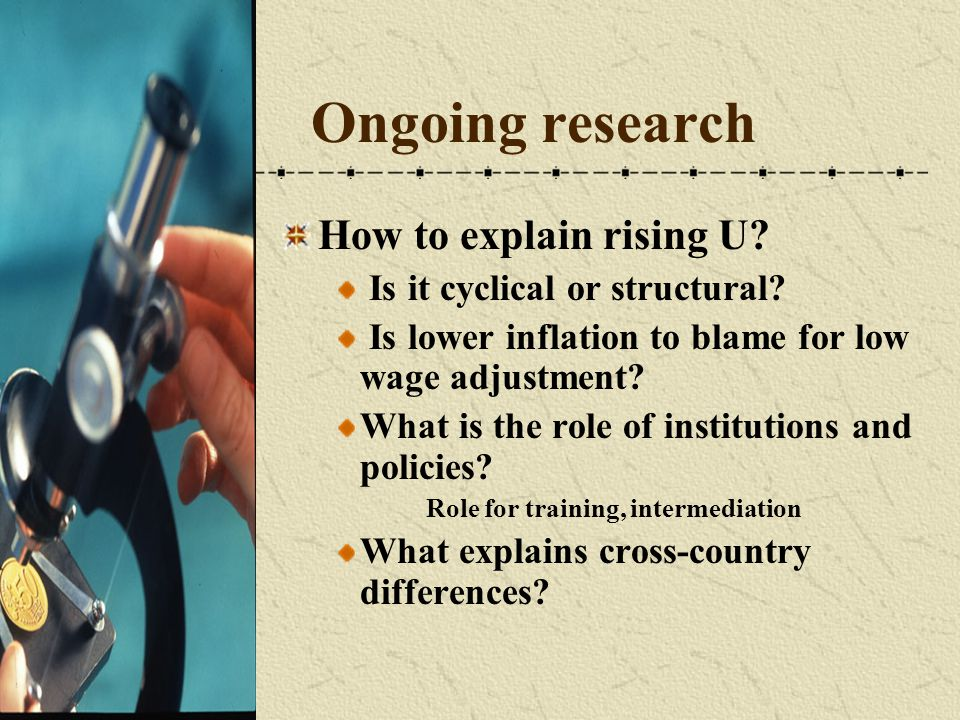 Ongoing research How to explain rising U.Is it cyclical or structural.