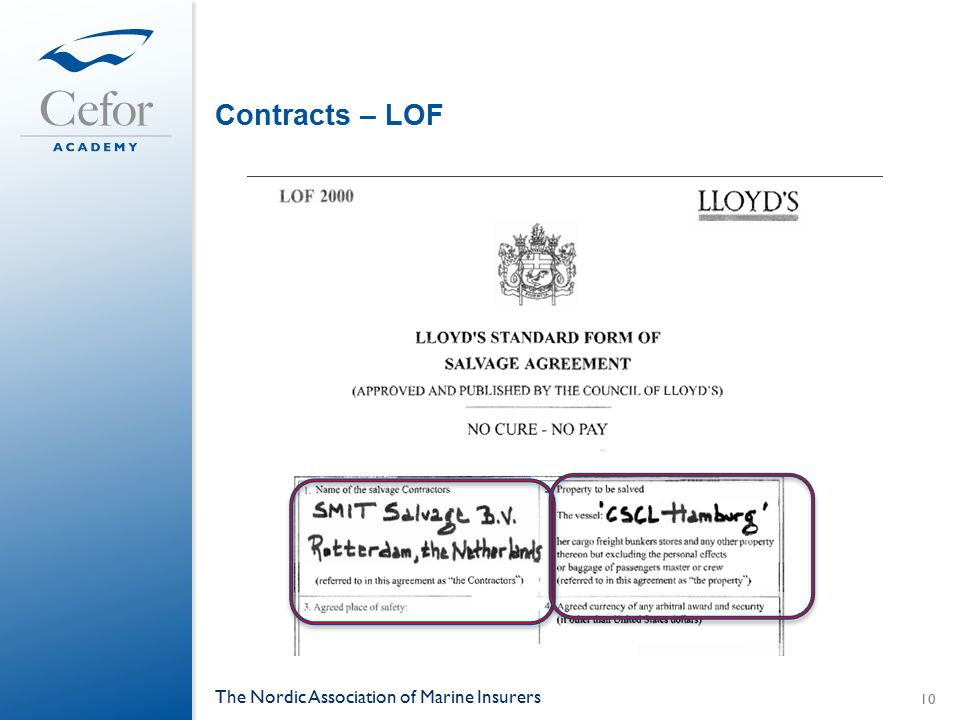 Contracts – LOF The Nordic Association of Marine Insurers 10
