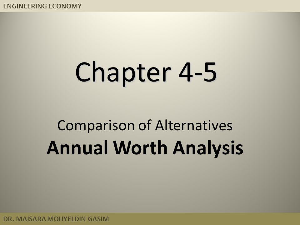 ENGINEERING ECONOMY DR.MAISARA MOHYELDIN GASIM Systematic Economic Analysis Technique 1.