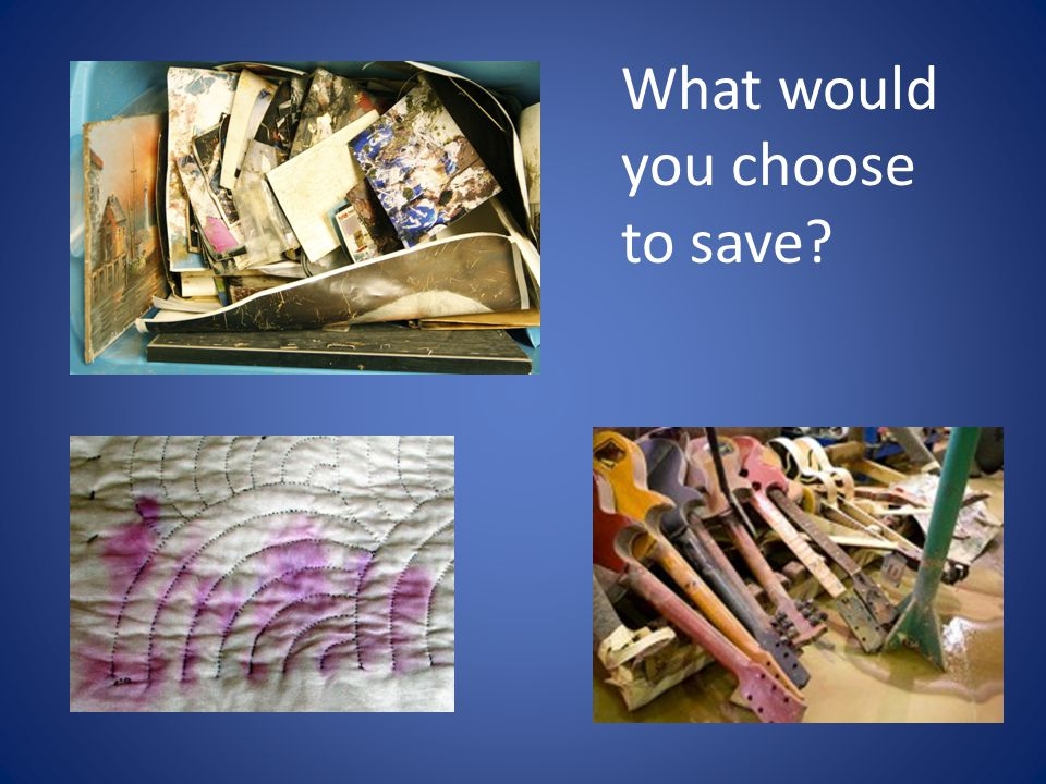What would you choose to save?