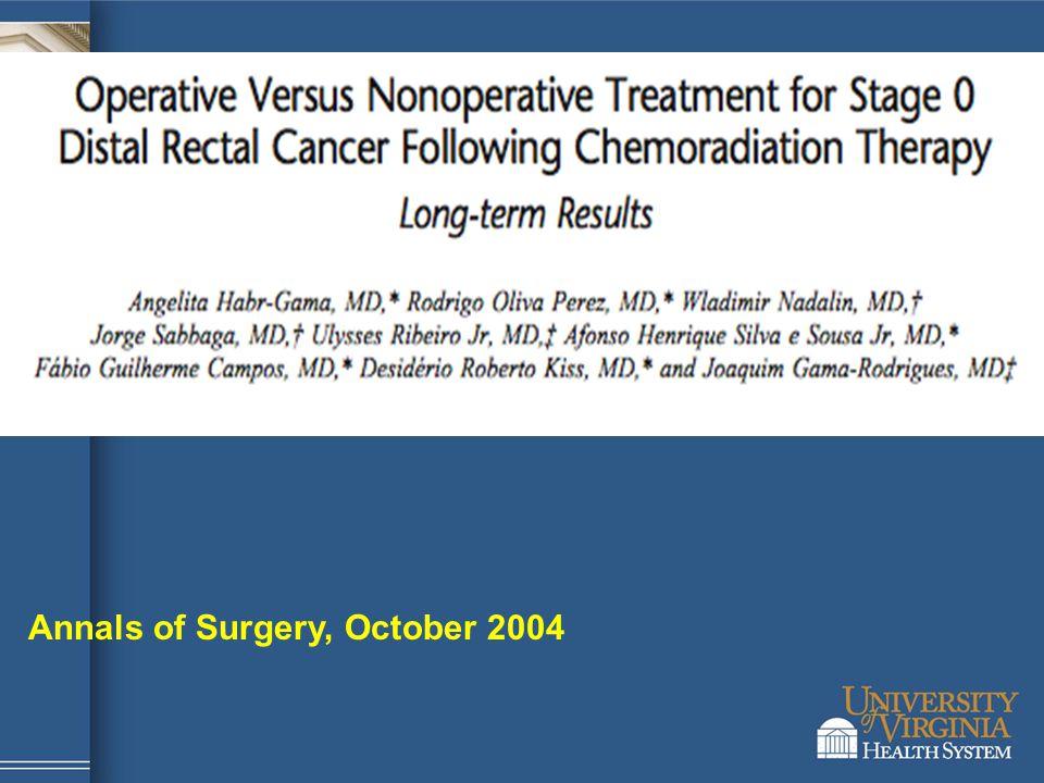 Annals of Surgery, October 2004