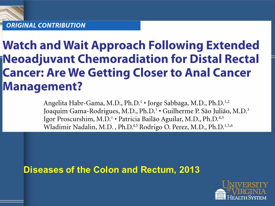 Diseases of the Colon and Rectum, 2013