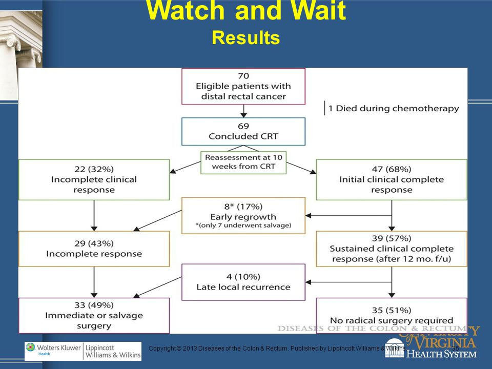 Copyright © 2013 Diseases of the Colon & Rectum. Published by Lippincott Williams & Wilkins.35 Watch and Wait Results