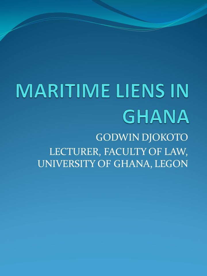 ORDER OF PRESENTATION Nature and characteristics of maritime liens Brief history Types of maritime liens Priority of maritime liens Extinction/extinguishment of maritime liens Defect in the law Way forward