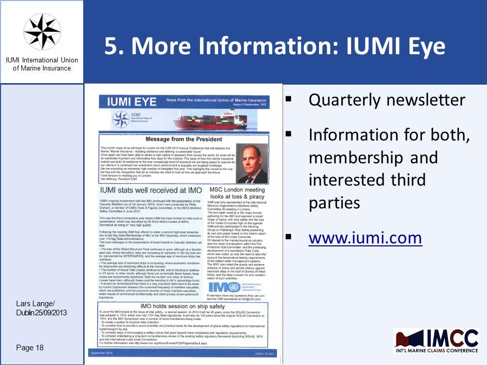 IUMI International Union of Marine Insurance 5.