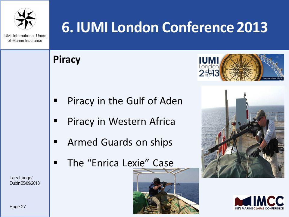 IUMI International Union of Marine Insurance 6.