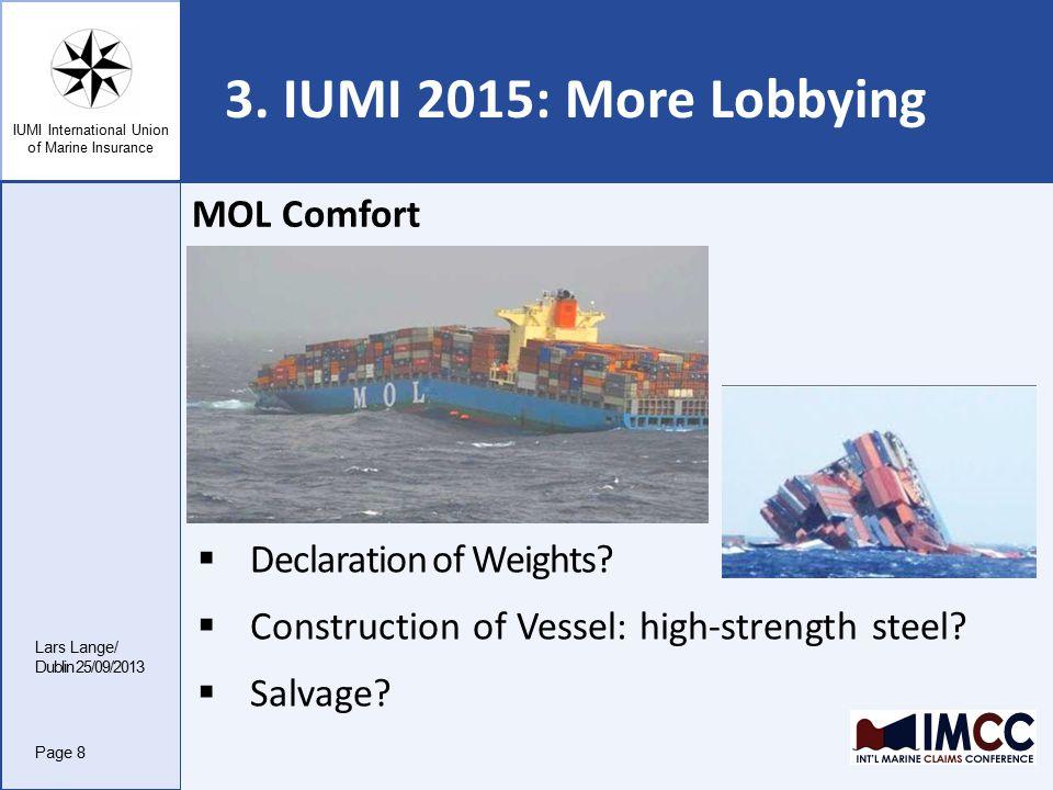 IUMI International Union of Marine Insurance 3.