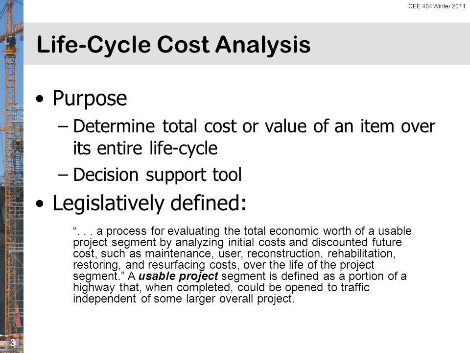 I-80, Iowa County, Iowa: Total Cumulative (Life-Cycle) Costs From Asphalt Paving Association of Iowa.