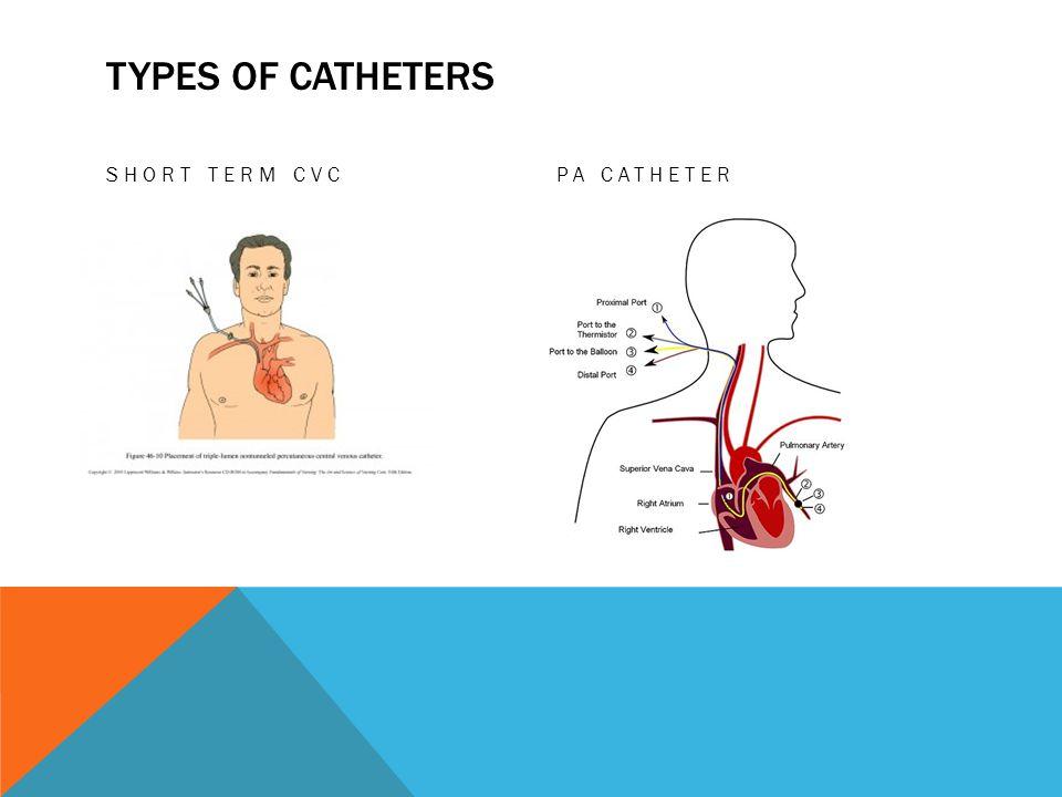 TYPES OF CATHETERS SHORT TERM CVCPA CATHETER