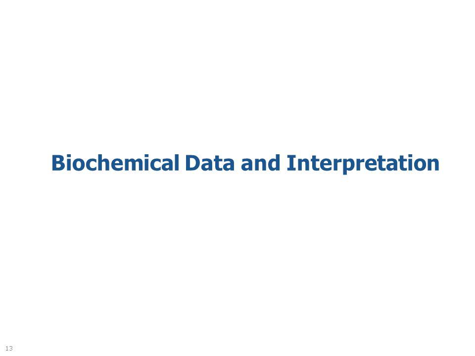 13 Biochemical Data and Interpretation
