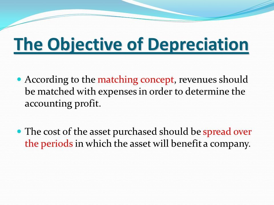 Definition Depreciation is the ' allocation of the depreciable amount of an asset over its estimated life '.