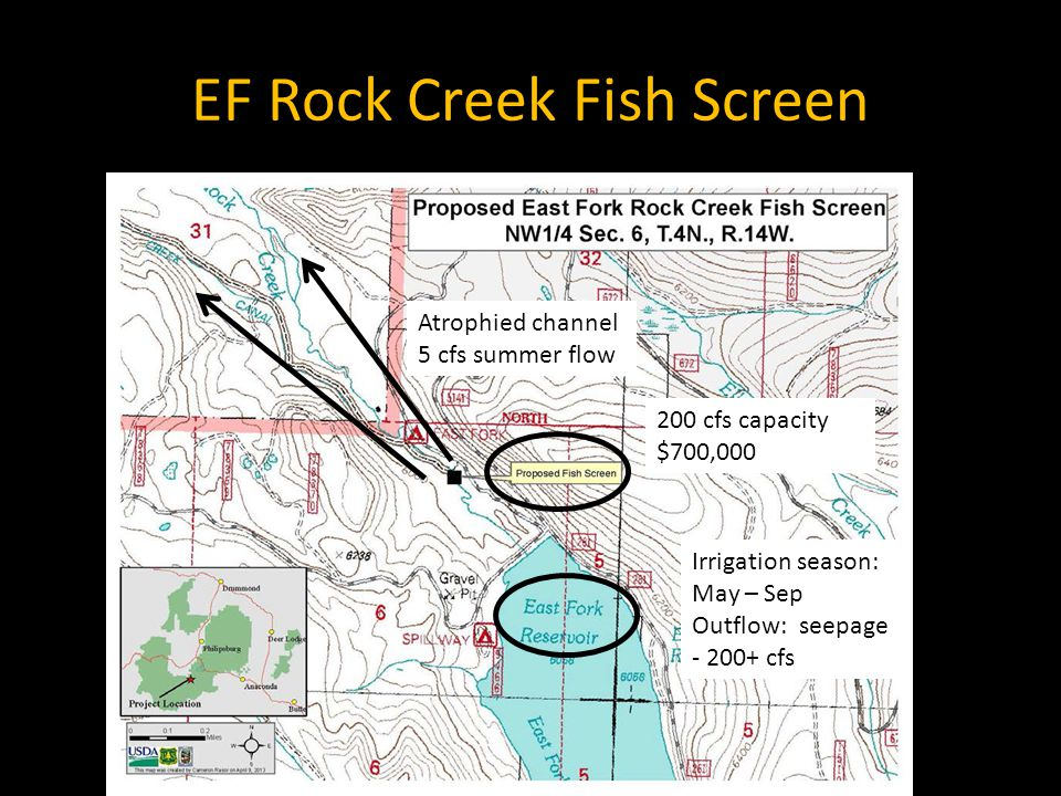 General Themes Many factors reduce numbers of fish (e.g., EF Rock Creek), understanding the biology improves a project's chance of success (e.g., Silver Lake) The fewer life-stages and habitat problems involved the more likely to succeed (e.g., upstream passage of adults vs.
