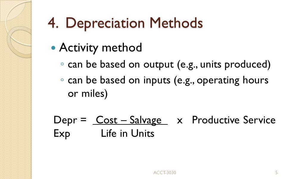 4. Depreciation Methods ACCT-30306