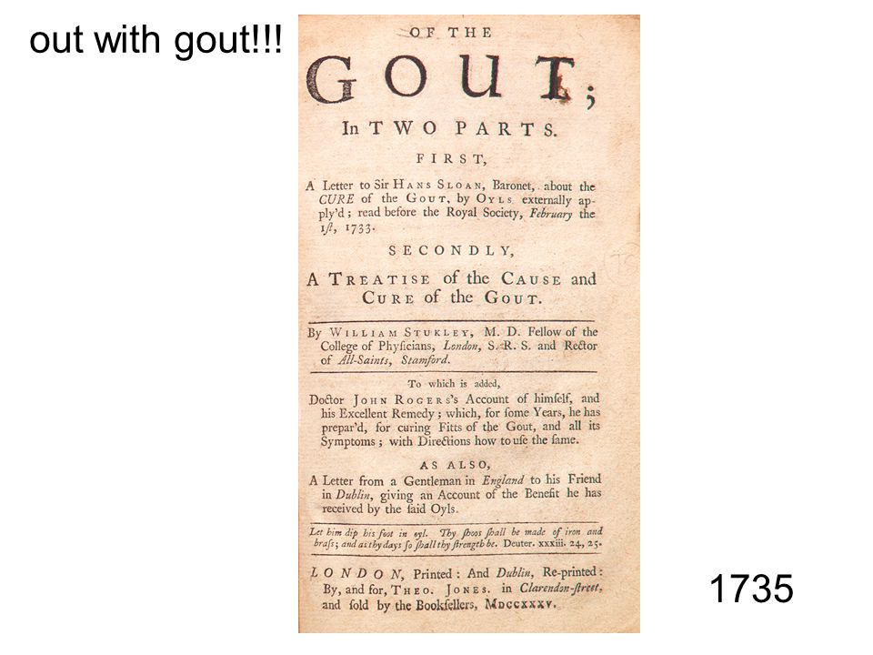 out with gout!!! 1735