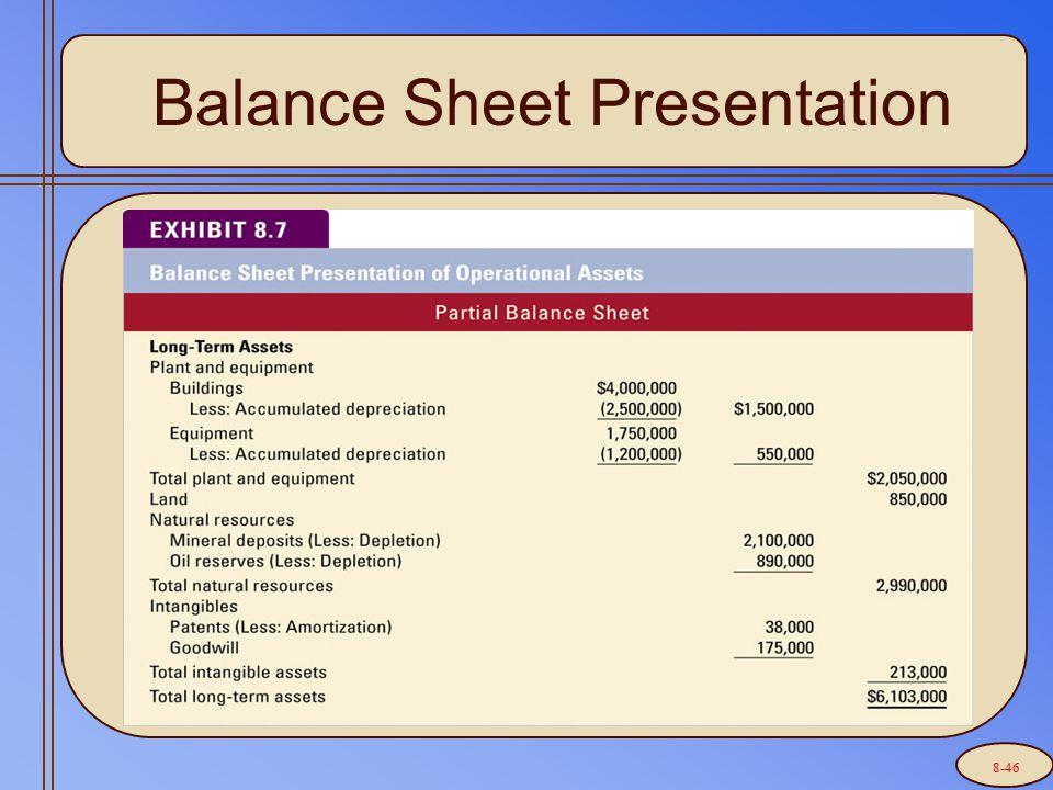Balance Sheet Presentation 8-46