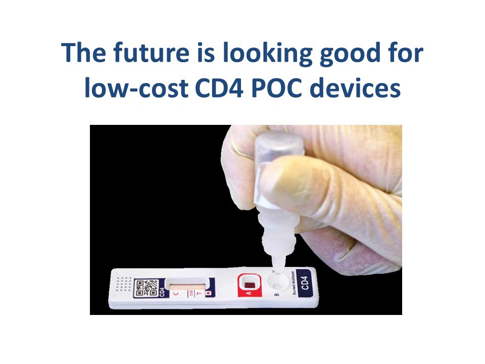 The future is looking good for low-cost CD4 POC devices