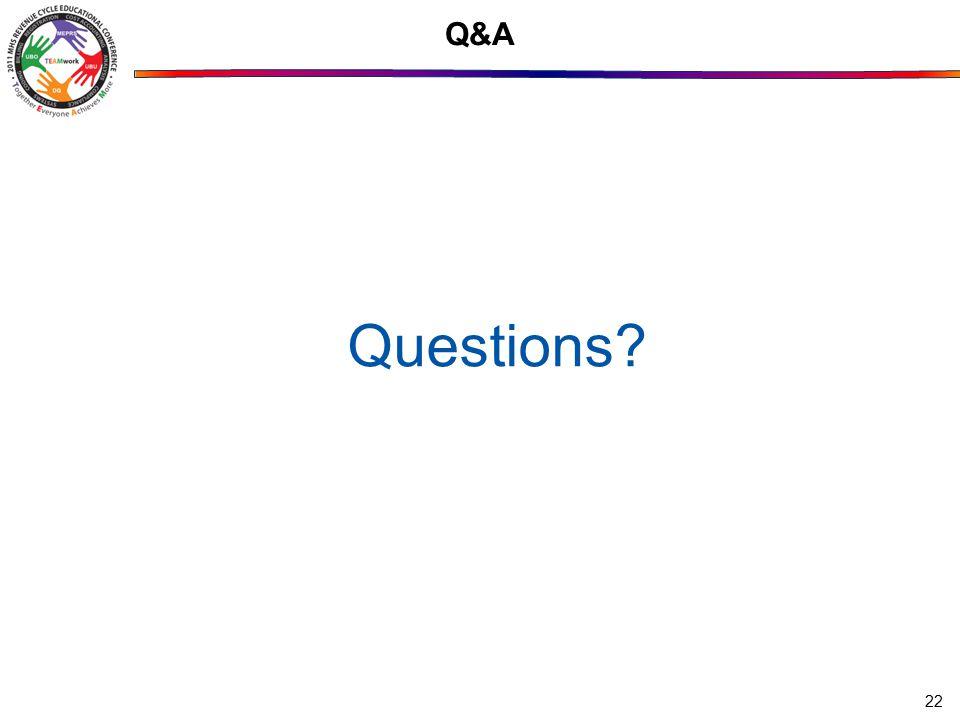 22 Q&A Questions