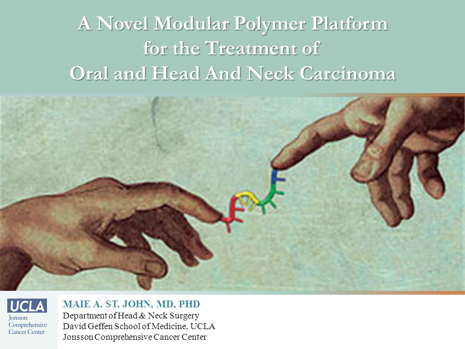 A Novel Modular Polymer Platform for the Treatment of Oral and Head And Neck Carcinoma MAIE A.