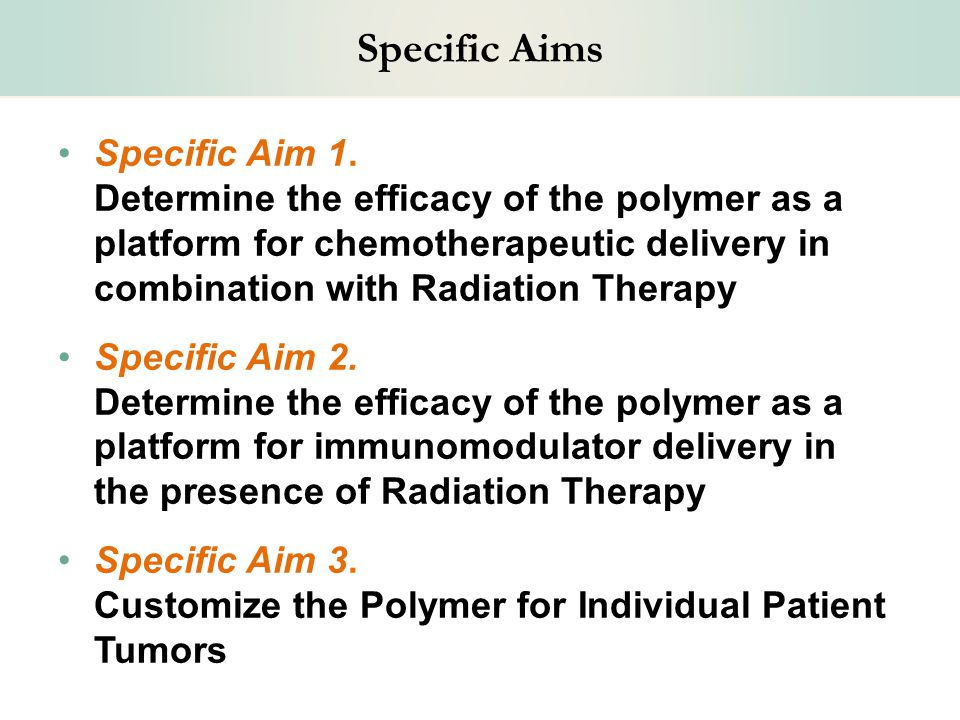 Specific Aims Specific Aim 1.