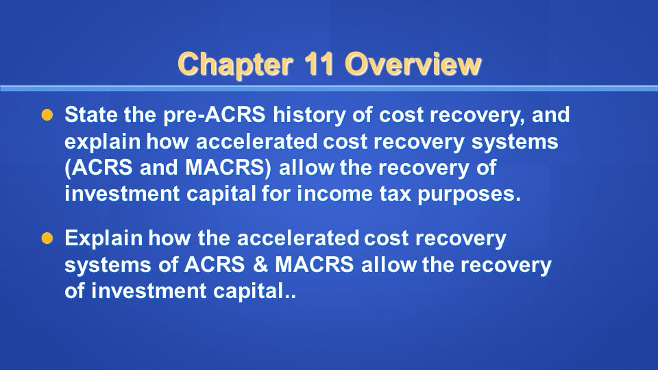 Cost Recovery Conventions