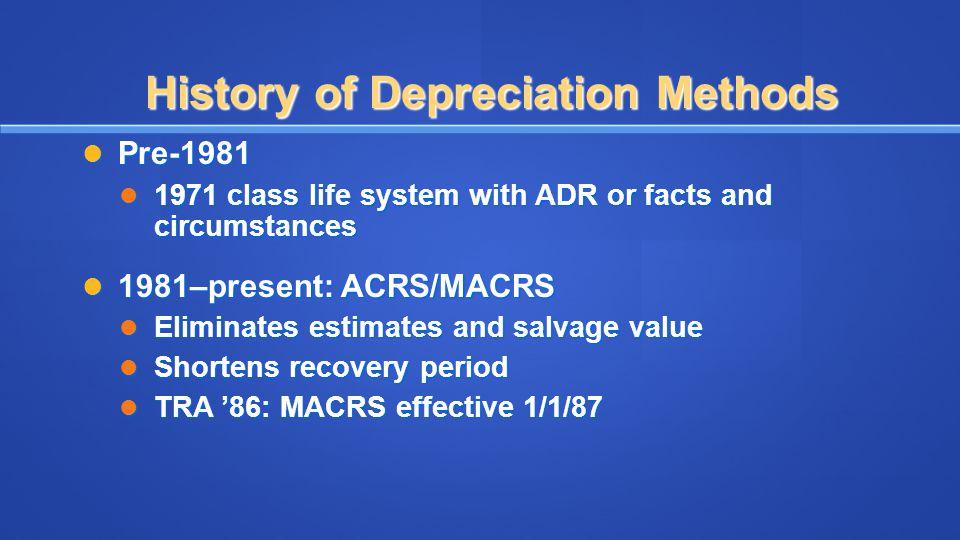 Calculating Depreciation