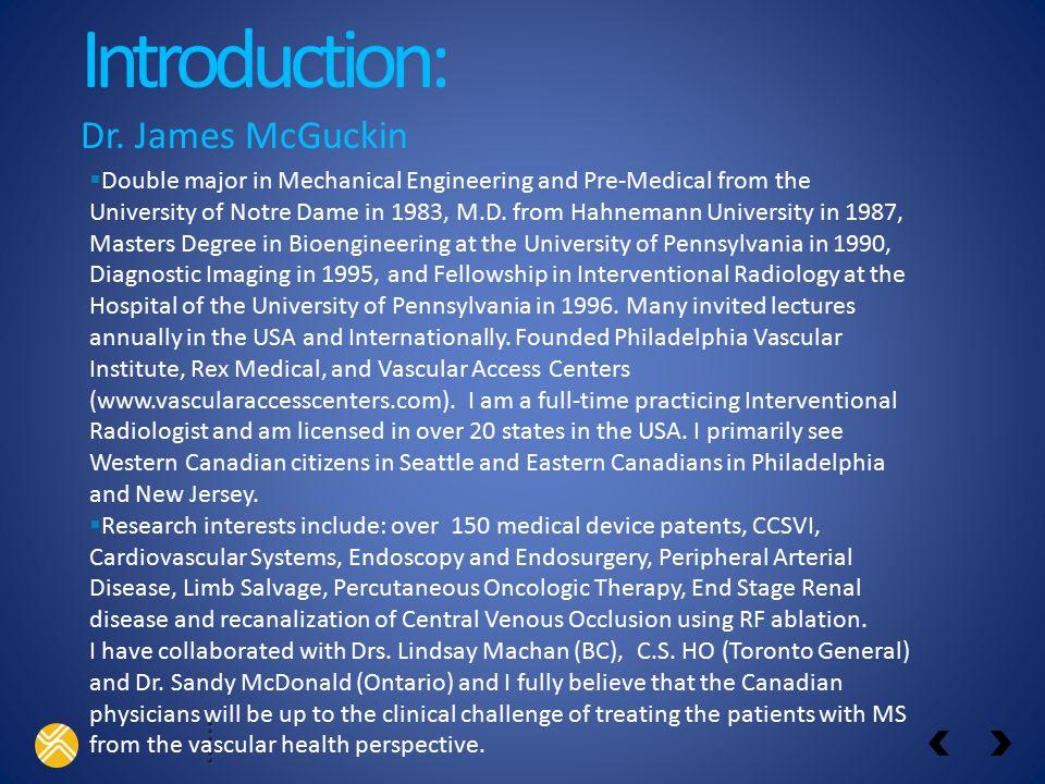 Introduction: Dr.