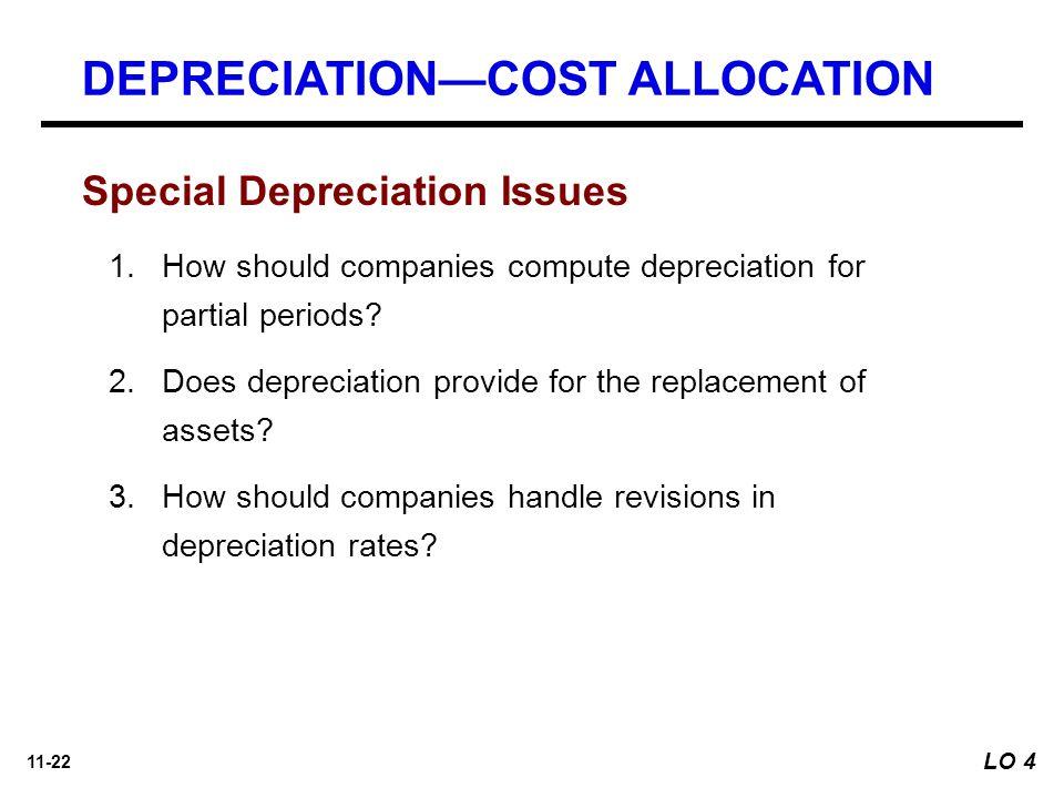 11-22 Special Depreciation Issues 1.How should companies compute depreciation for partial periods.