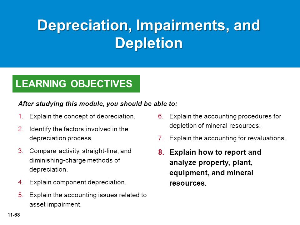 11-68 6.Explain the accounting procedures for depletion of mineral resources.