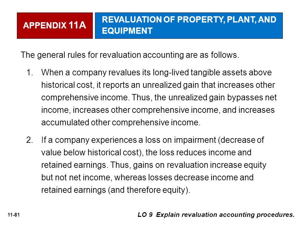 11-81 LO 9 Explain revaluation accounting procedures.